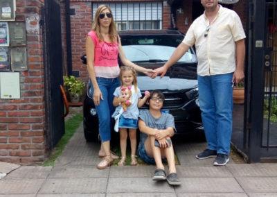 Diego Perrin y familia